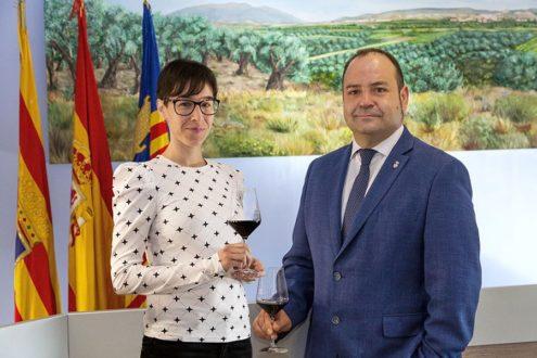 Brindis Saborea Magallón Leticia Alutiz y Victor Chueca
